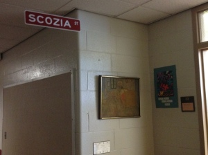 Art teacher Mrs. Scozia's still around! Fun times in art class totally goofing off.