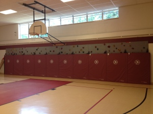 I remember running a mile inside here. It was horrible running that distance in a hot gym, just running in circles. And we didn't used to have a climbing wall either. These kids are spoiled.