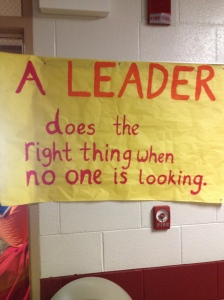 A leader does the right thing when no one is looking… like pull the fire alarm.