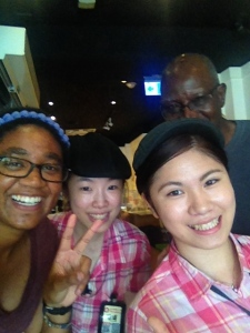 The Young House Cafe waitresses wanted a picture with my dad and I. Not sure why? But we took one anyway!