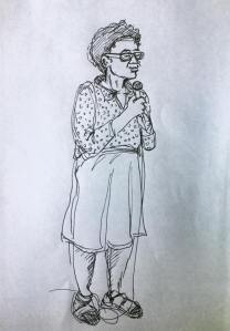 Sketch by Ted Pigott. Clearly I'm channeling my inner Ms. Frizzle...